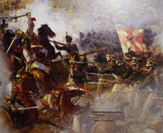 """La bataille de Borodino"", par V.A. Serov"