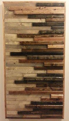 Wood Wall Sculpture   Etsy Wooden Wall Art Panels, Reclaimed Wood Wall Art, Wood Wall Shelf, Wood Panel Walls, Wood Art, Barn Wood, Wooden Pallet Projects, Wooden Pallets, Wooden Diy
