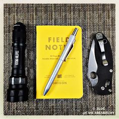 Bigfoot's Karas Kustoms Retrakt Pen makes a great Field Notes companion.