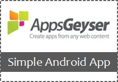 Create a Simple Android Application for Your Site with AppsGeyser