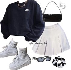 Swag Outfits For Girls, Cute Swag Outfits, Indie Outfits, Teen Fashion Outfits, Teenager Outfits, Retro Outfits, Look Fashion, Stylish Outfits, Girl Outfits