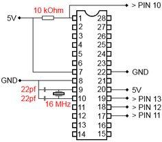"""Flashen (""""burnen"""") eines ATMEL ATMEGA 328p mit dem Arduino Uno Bootloader - Frag-Duino"""