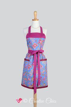 Etsy listing at https://www.etsy.com/listing/206049737/full-bib-womens-apron-royal-blue-vintage