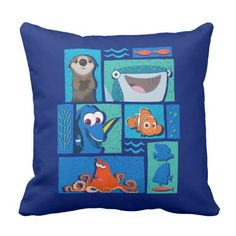 Finding Dory | Group of Characters. Regalos, Gifts. #cojín #pillow