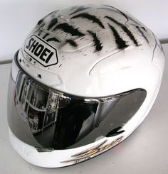 Hand Painted Shoei Moto Helmet #103 ~ Helmets4Fun - Hand Painted Helmets