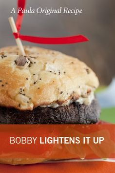Check out what I found on the Paula Deen Network! Bobby's Lighter Mushroom Burger http://www.pauladeen.com/bobbys-lighter-mushroom-burger