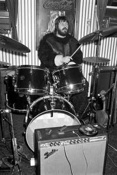 John Bonham of Led Zeppelin. In a gorilla suit John Bonham, Led Zeppelin, Greatest Rock Bands, Best Rock, Jimmy Page, Robert Plant, Gretsch Drums, Houses Of The Holy, Stairway To Heaven