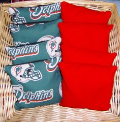 8 Pc Set Of Corn Hole Bags 4 Miami Dolphins Print By Joeysartworks 24 95