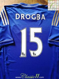 Official Adidas Chelsea home football shirt from the 2010 11 season.  Complete with Drogba 90929acc772