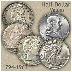Uncirculated Bust Half, Seated Liberty, Barber, Walking Liberty and Franklin Half Dollar Rare Coins Worth Money, Valuable Coins, Silver Dollar Coin Value, Silver Coins Worth, Old Coins Value, Coin Buyers, Sell Coins, Buy Gold And Silver, Coin Worth
