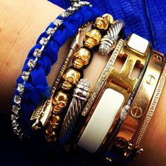 OMG - two of my wish list items, Hermes cuff and a Cartier Love Bracelet! x