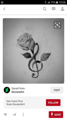Music Note & Rose