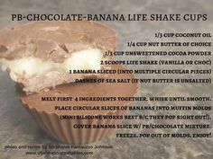 peanut butter chocolate banana Shaklee Life Shake cups