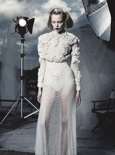 Tanya Dziahileva wears Givenchy Haute Couture F/W 2011 photographed by Jean-Daniel Lorieux for L'Officiel Paris October 2011