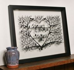 Happily+ever+aftercustomised+hand+cut+paper+cut+by+CraftyLou2,+£90.00