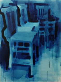 Blue Chairs oil on canvas 76x102cm