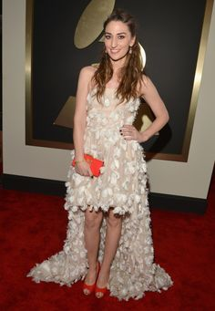 Nominee Sara Bareilles arrives at the 56th Annual GRAMMY Awards on Jan. 26 in Los Angeles