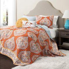 The Hannah Boho Bohemian Moroccan 3 PC Bed Quilt SET