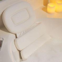 Spa Pillow in Bathtub Accessories Bathroom Jacuzzi Bath, Bathtub Shower, Bathroom Spa, Bath Tub, Relaxing Bathroom, Bathroom Hacks, Bathroom Ideas, Bathtub Accessories, Spa Accessories