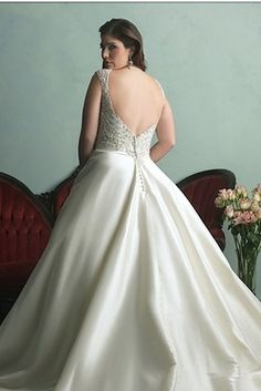This beauty from Allure Bridals Women Collection   31 Jaw-Dropping Plus-Size Wedding Dresses