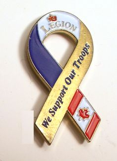 Canadian Legion Ribbon - We Support our Troops