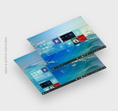 Windows 10 redesign - Tablet and Desktop startscreen Project Neon, Windows 10, Ui Design, Projects, Desktop, Tech News, Concept, Log Projects, Blue Prints