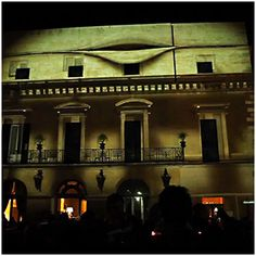 Architectural mapping projection – Notte Bianca Lecce