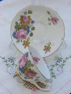 Items similar to Cup and Saucer - Gladstone English Bone China - Vintage on Etsy Antique China, Vintage China, Belleek Vase, Etsy Vintage, Vintage Items, Lenox China, Book Of Kells, Mothers Day Special, China Cups And Saucers