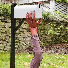 Make a mailbox monster    Use last year's costume and an old shirt to give your postal carrier (and the neighbors!) a friendly fright.