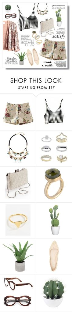 """""""Genuine"""" by kaitlyngertrude ❤ liked on Polyvore featuring Anton Heunis, Topshop, 8, Ottoman Hands, Threshold, Qupid, Tom Ford, modern, vintage and genuine"""