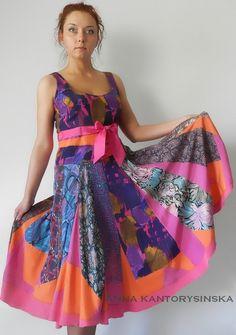 Kleid von Flickwerk MOLLY handmade mehrfarbigen von kantorysinska