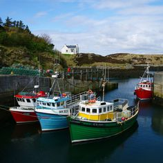 Grimsay Harbour in the Outer Hebrides - between North and South Uist