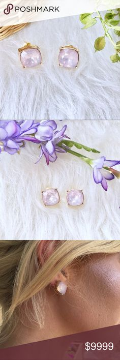 COMING SOON!! Pink Opal Earrings Studs Beautiful opal earring studs. Coming soon! Jewelry Earrings