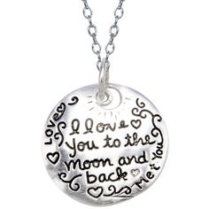"""""""I Love You to the Moon"""" Sterling Silver Pendant - jcpenney"""