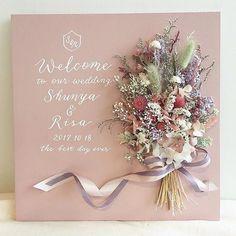 Pin by 舞子 岩田 on Wedding in 2019 Wedding Ceremony Signs, Wedding Pins, Wedding Reception Decorations, Wedding Paper, Diy Wedding, Wedding Flowers, Wedding Welcome Board, Welcome Boards, Dried Flower Bouquet