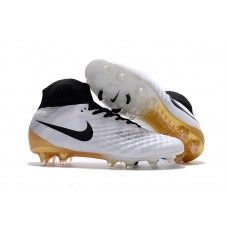 watch 144d6 34d1b Nicest Nike Magista Obra II FG Soccer Cleats - White Gold Black Nike Soccer