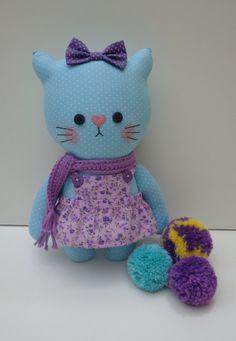 cute cat cat doll cloth cat handmade dolls by dollsfofurasbyleila