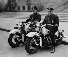 vintage motorcycle cops - my dad rode one like these with the RCMP back in the 60s