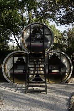 TuboHotel in Mexico...this would be an awesome idea for kids' personal space, a little den area.