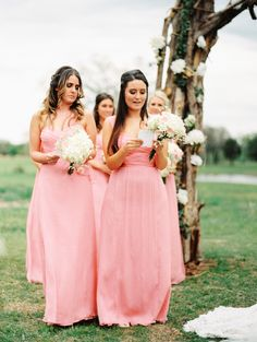 Romantic country wedding at Texas ranch shot by Jared Tseng Photography. Amsale Bridesmaid, Bridesmaid Dresses, Wedding Dresses, Coral Wedding Colors, Hue, Style Me, Texas Ranch, Romantic, Pretty