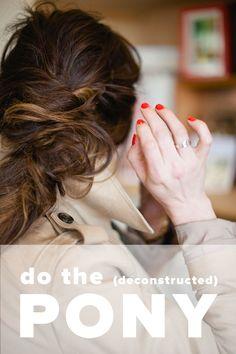 Deconstructed ponytail tutorial via witanddelight.com