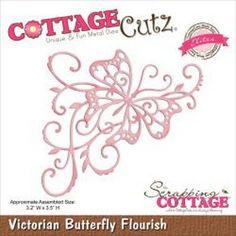 CottageCutz Elites Die Victorian Butterfly Flourish,3.2in. X3.5in.
