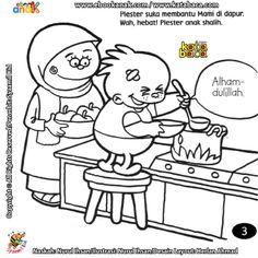 Anak Saleh Itu Suka Membantu Mami di Dapur