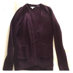 Gap cardigan sweater button up Burgundy Gap cardigan sweater comfortable Burgundy color never worn two small pockets in the front size extra small but really is a small fits somewhat larger then xs GAP Sweaters Cardigans