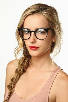 'Briley' Oversized Rounded Clear Glasses - Tortoise - 5392-2
