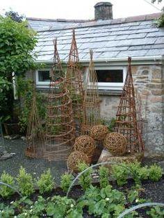Weidengeflechte für den Garten (Diy Garden Indoor)