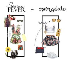 """#springdate#springforever ☀️"" by laura-vanessa-malaika on Polyvore featuring Posh Girl, Casetify, Azaara, Ray-Ban, Forever 21, adidas Originals, New Look, Oliver Peoples, Fendi and Taylor Black"