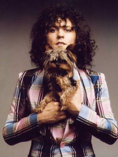 Marc Bolan n his pup