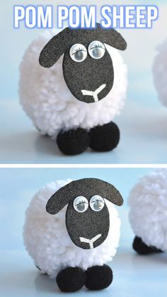 Pom Pom Sheep 2019 These pom pom sheep are SO CUTE and really easy to make! It's simple to make DIY pom poms from yarn just by using your hands! Such a great kids craft for spring time! The post Pom Pom Sheep 2019 appeared first on Yarn ideas. Fun Diy Crafts, Arts And Crafts, Paper Crafts, Simple Crafts, Recycled Crafts, Creative Crafts, Wood Crafts, Sheep Crafts, Pom Pom Crafts