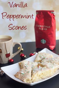 vanilla peppermint scones {ad} on Nap-Time Creations (peppermint cake roll holiday desserts) Best Dessert Recipes, Brunch Recipes, Fun Desserts, Sweet Recipes, Delicious Desserts, Yummy Food, Scone Recipes, Holiday Desserts, Holiday Baking